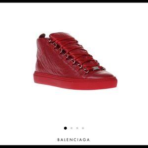 100% Authentic Balenciaga Leather Arena Sneakers